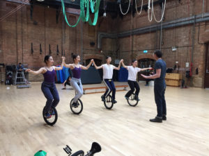 Ballet Central dancers take unicycle workshops at National Centre for Circus Arts